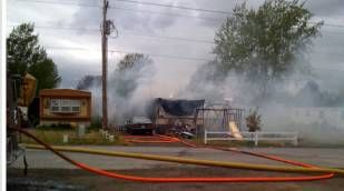Fire Destroys Mobile Home in Airway Heights