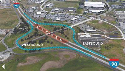 Overnight closure coming to I-90 at SR 902/Medical Lake interchange next week