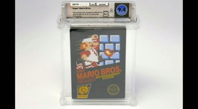 """Vintage """"Super Mario Bros"""" game sells for a record amount of money"""