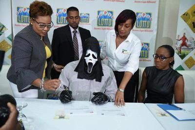 Scream mask Jamaican lottery