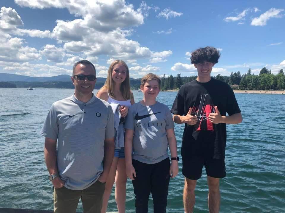 Sean Fredrickson and kids