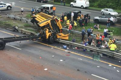 Two dead in New Jersey school bus crash with 45 on board, multiple injuries