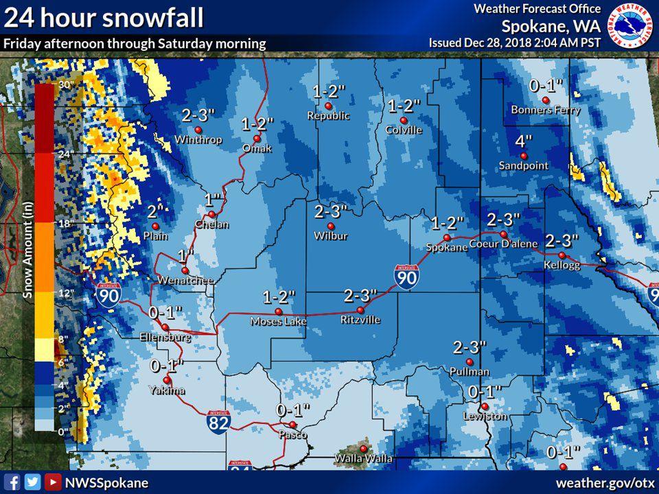 WEATHER AUTHORITY ALERT: Spokane area expecting big snow