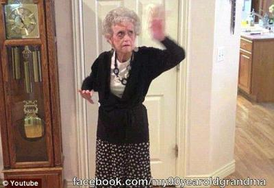 90-Year-Old Granny Becomes Internet Sensation After Dancing Tribute To Whitney Houston!