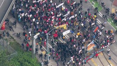Seattle arrests 1 in largely peaceful PNW May Day marches