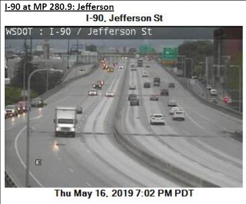 Water on I-90 cleared