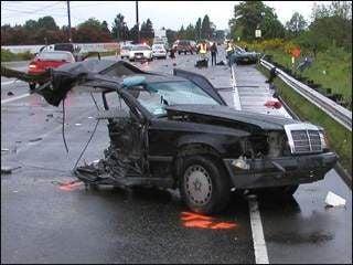 Car ripped in half in fatal Puyallup crash | News | khq com