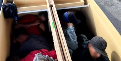 Border Patrol agents in Texas find six people stuffed inside cabinets