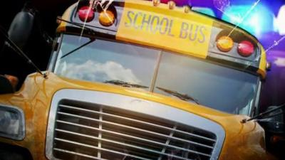 Montana school bus skids off road in whiteout conditions