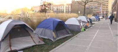 Camp Hope tents