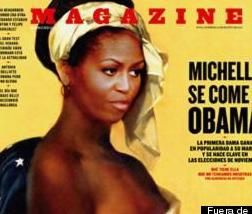 PHOTO: Michelle Obama Pictured As Nude Slave...Did The Magazine Go Too Far?