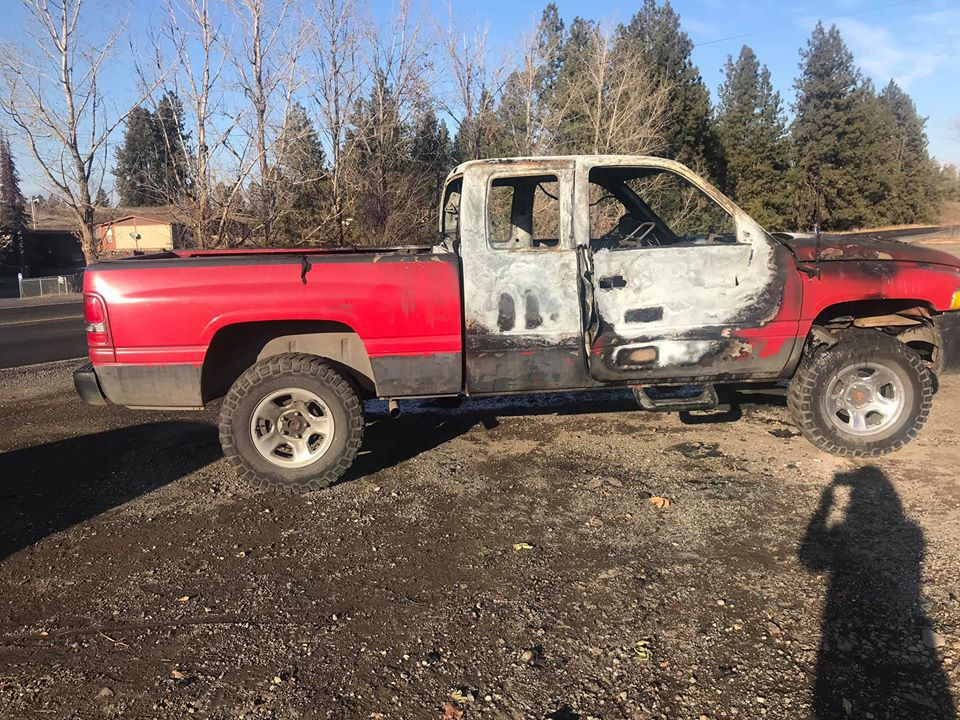 Truck of Spokane man heading to laundry mat catches fire, all clothing destroyed