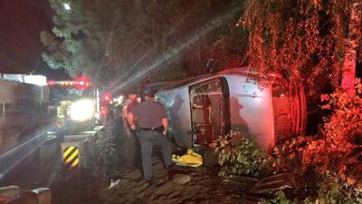 Rollover crash in Nine Mile Falls sends one to hospital