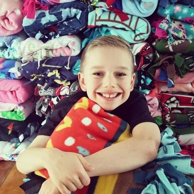 10-year-old makes very special delivery for Spokane foster children