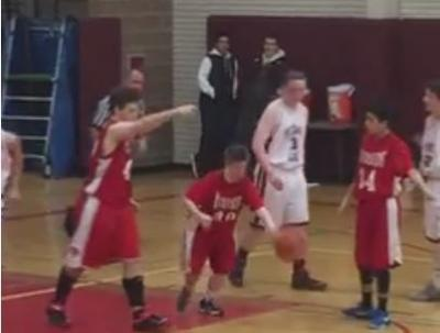 WATCH: Riverside basketball player with Down syndrome gets his time to shine