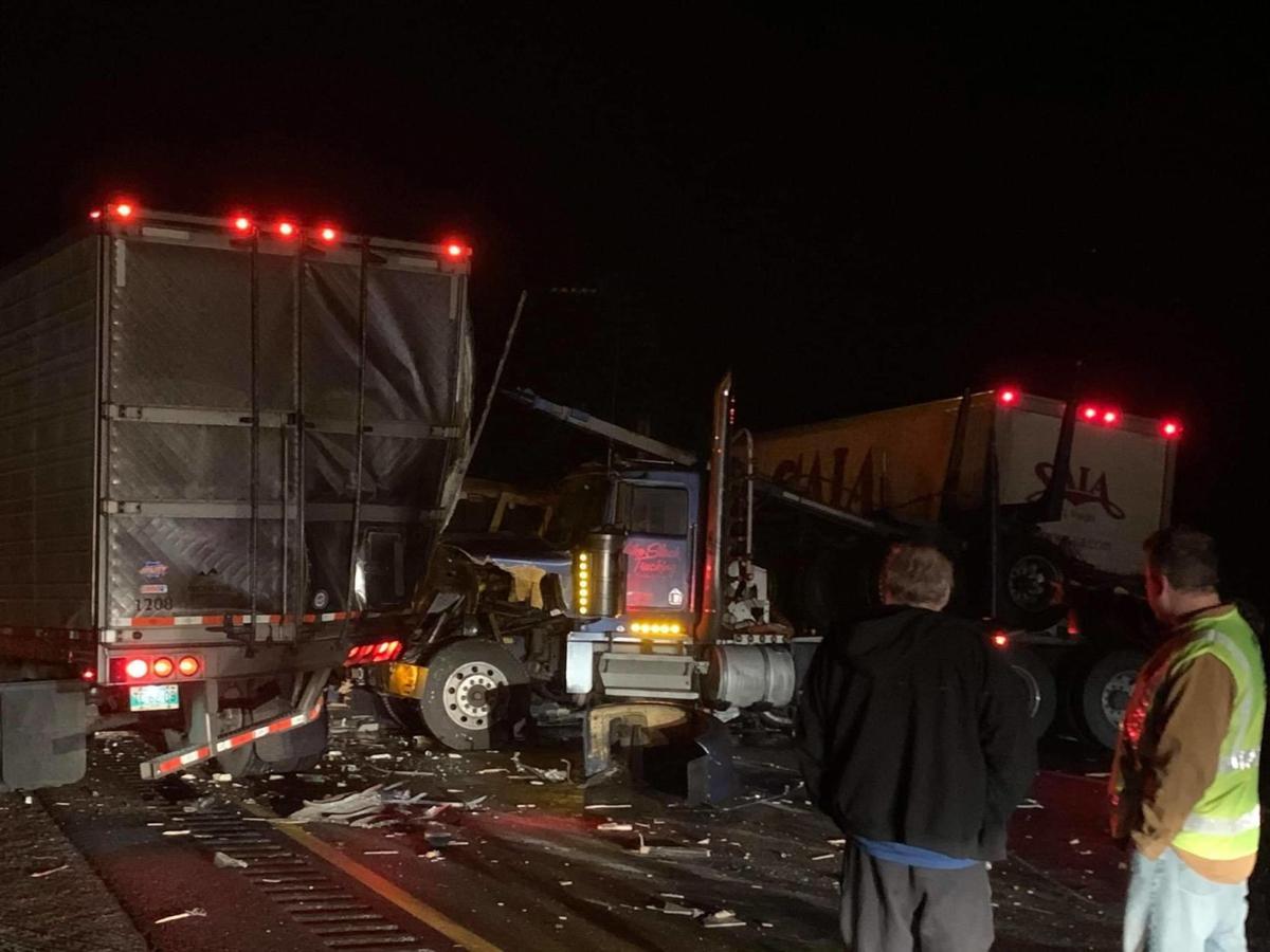 I-90 EB west of Ritzville multiple semi, vehicle crashes