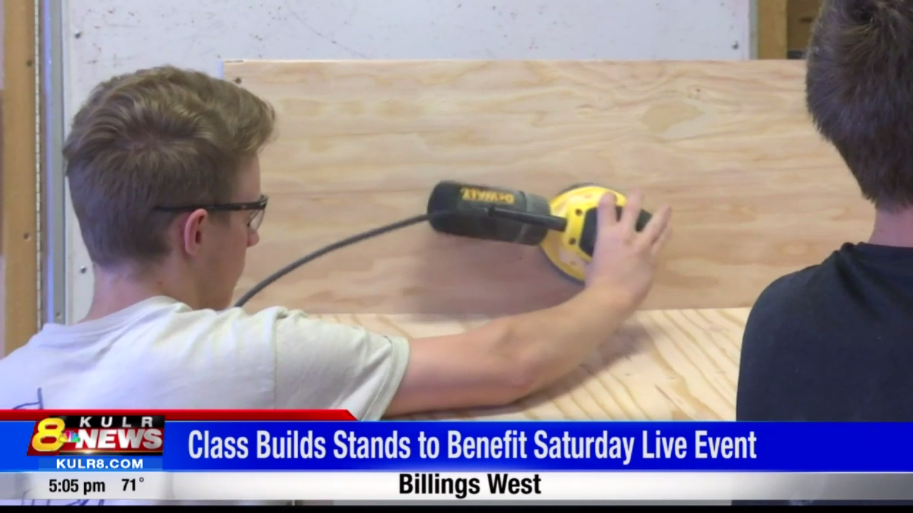 Billings West Woodworking Class Builds Stands To Benefit