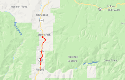 Idaho Highway 95 closed from Slate Creek to Riggins