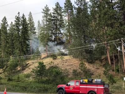 Brush fire burning near Cherry Hill Park 7-11-2019