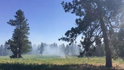 Brush fires burning near Medical Lake and Indian Canyon Golf Course