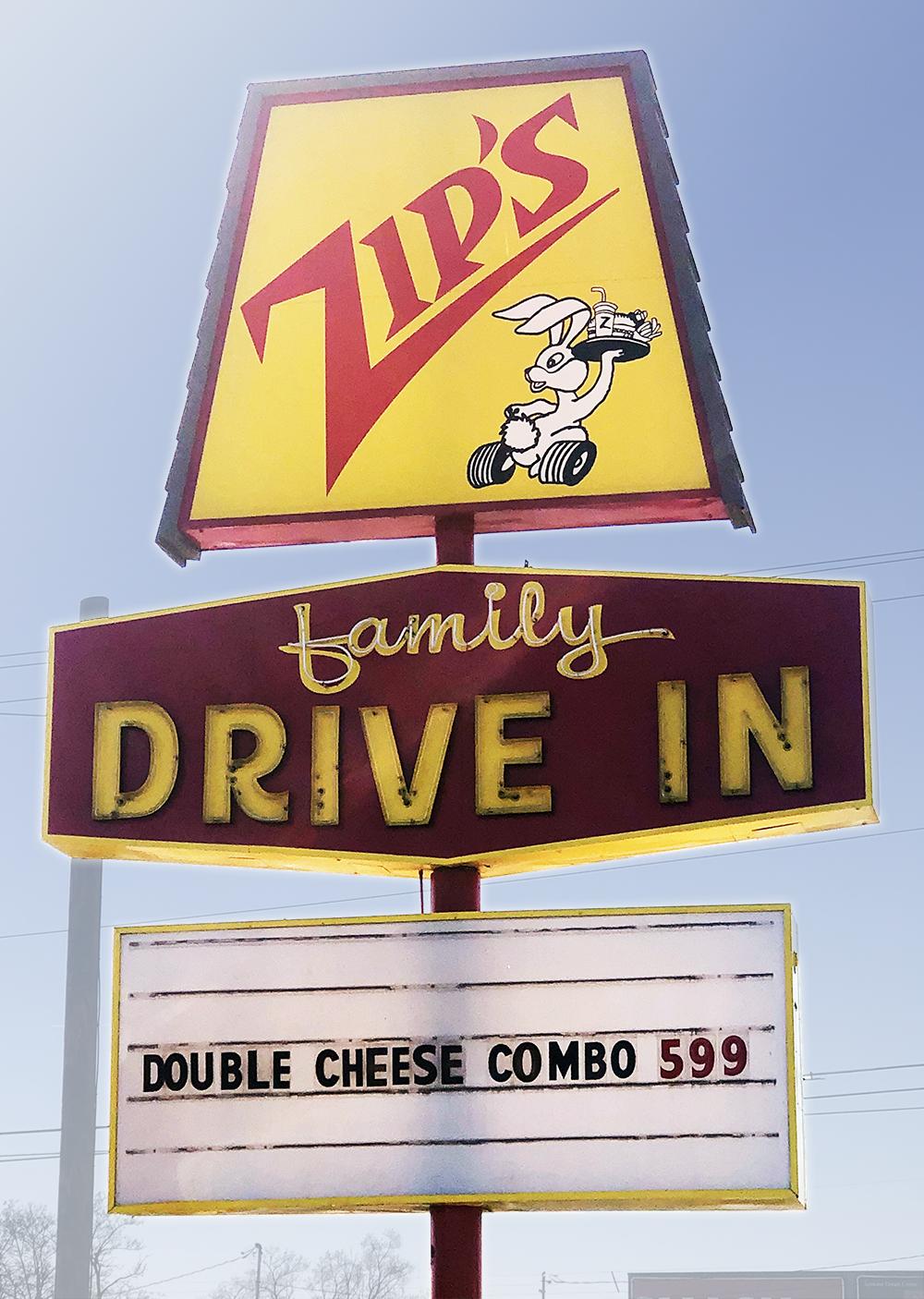 Zips Sign