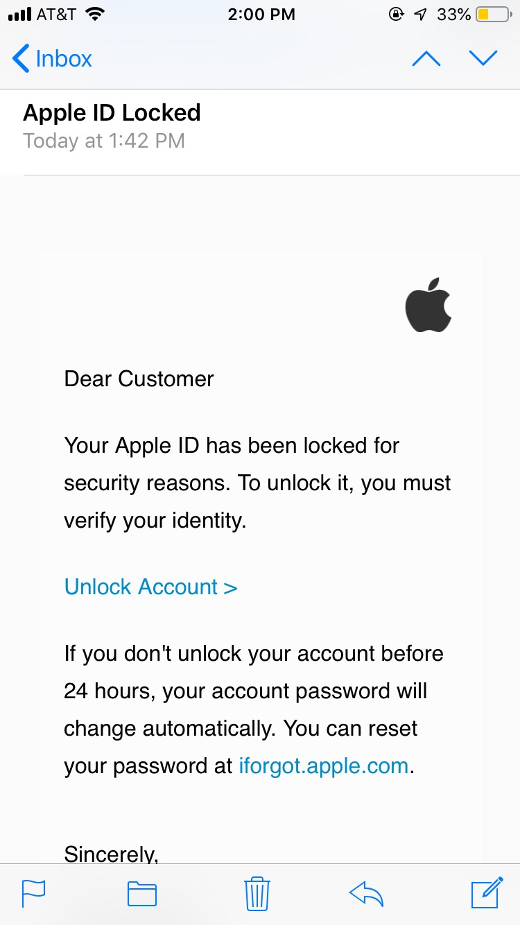 Scam Alert Apple Id Phishing Emails Prompt Users To Verify Their Identity News Khq Com