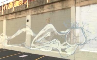 Nude Woman Art Mural