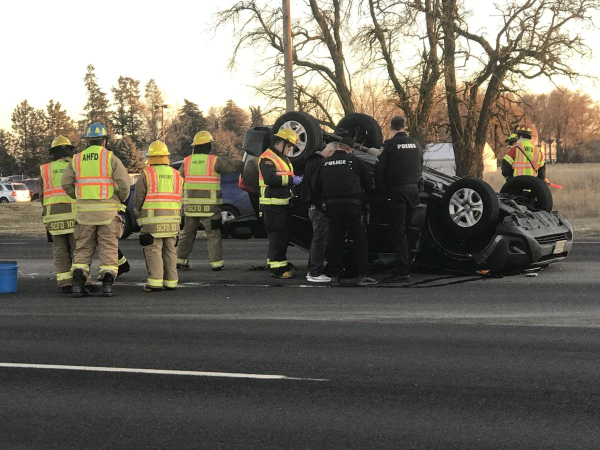 Two injured after rollover crash in Airway Heights