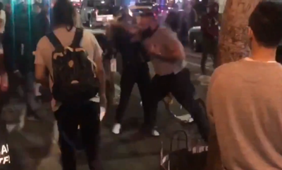 Guy punches women in LA over hot dog