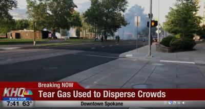 Police use tear gas