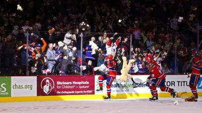 Spokane Chiefs receive thousands of stuffed animal donations after Teddy Bear Toss game