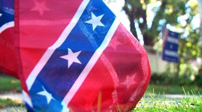 Confederate Flag Placed In Front Of Home Of Biden Harris Supporter News Khq Com
