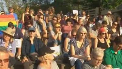 Spokane solidarity vigil draws crowd
