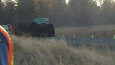 UPDATE: Semi Rollover Closes I-90 At Salnave Exit: WATCH LIVE VIDEO