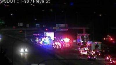 Washington State Patrol respond to fatal crash on I-90 near Freya