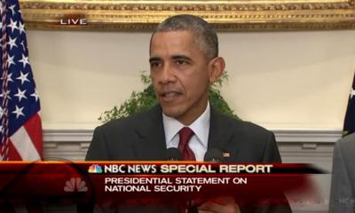 President Obama says there is no specific national security threat for the holiday weekend