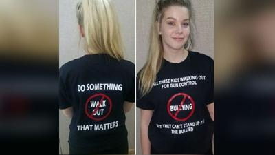 Walk up, not out: Coeur d'Alene student's message goes viral