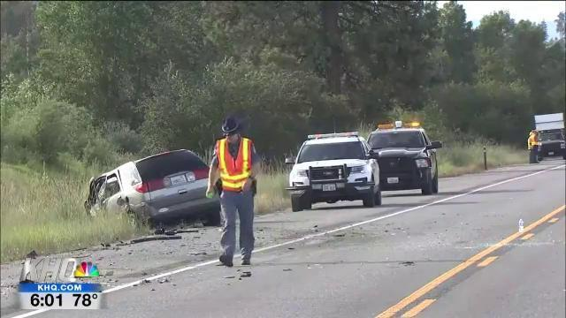 VIDEO: crash six-miles south of Colville leaves one dead, three