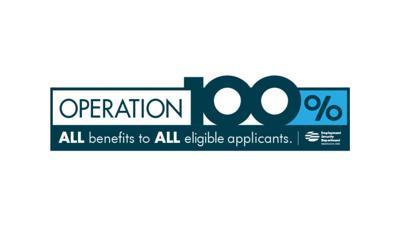 unemployment operation 100%