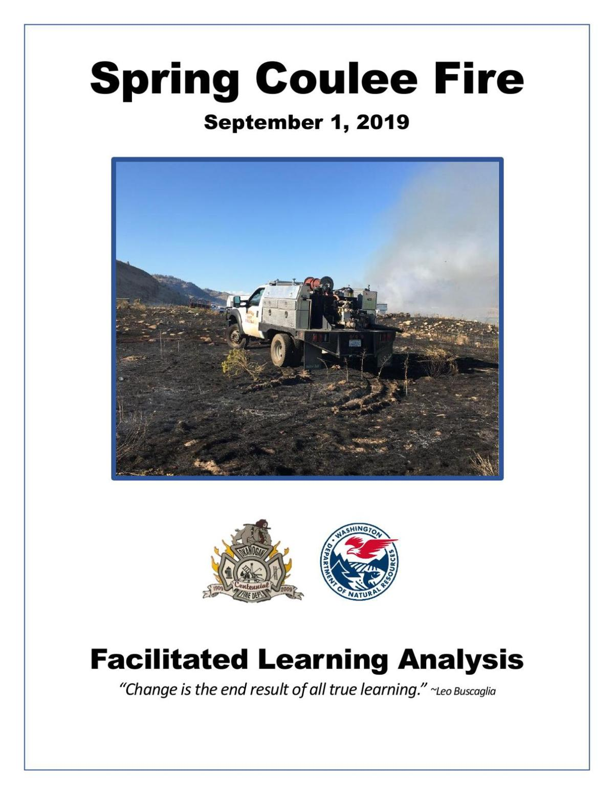 Spring Coulee Fire Facilitated Learning Analysis