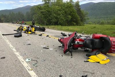 7 killed after collision between pickup and motorcycles in New Hampshire