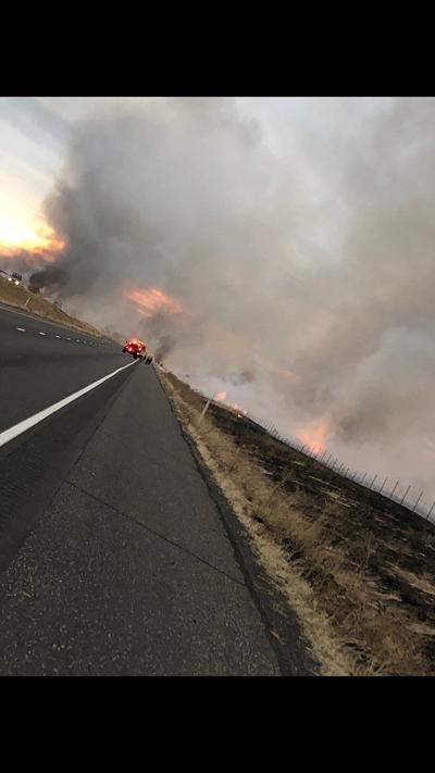 Fire burning near Tri-Cities bringing smokey air to Spokane
