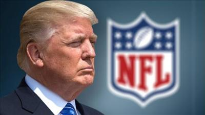 Trump lauds NFL policy banning kneeling for national anthem