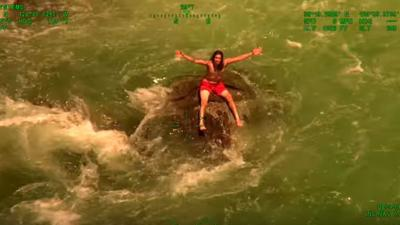 WATCH: Man plucked from raging California river in dramatic video