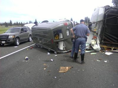 First on KHQ Com: Rollover Accident on I-90 Slows Traffic
