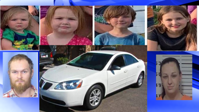 Four children missing after grandparents allow parents visitation, believed to be heading to Spokane