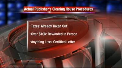 Scam Alert: Fake Publisher's Clearing House Clears $1,000