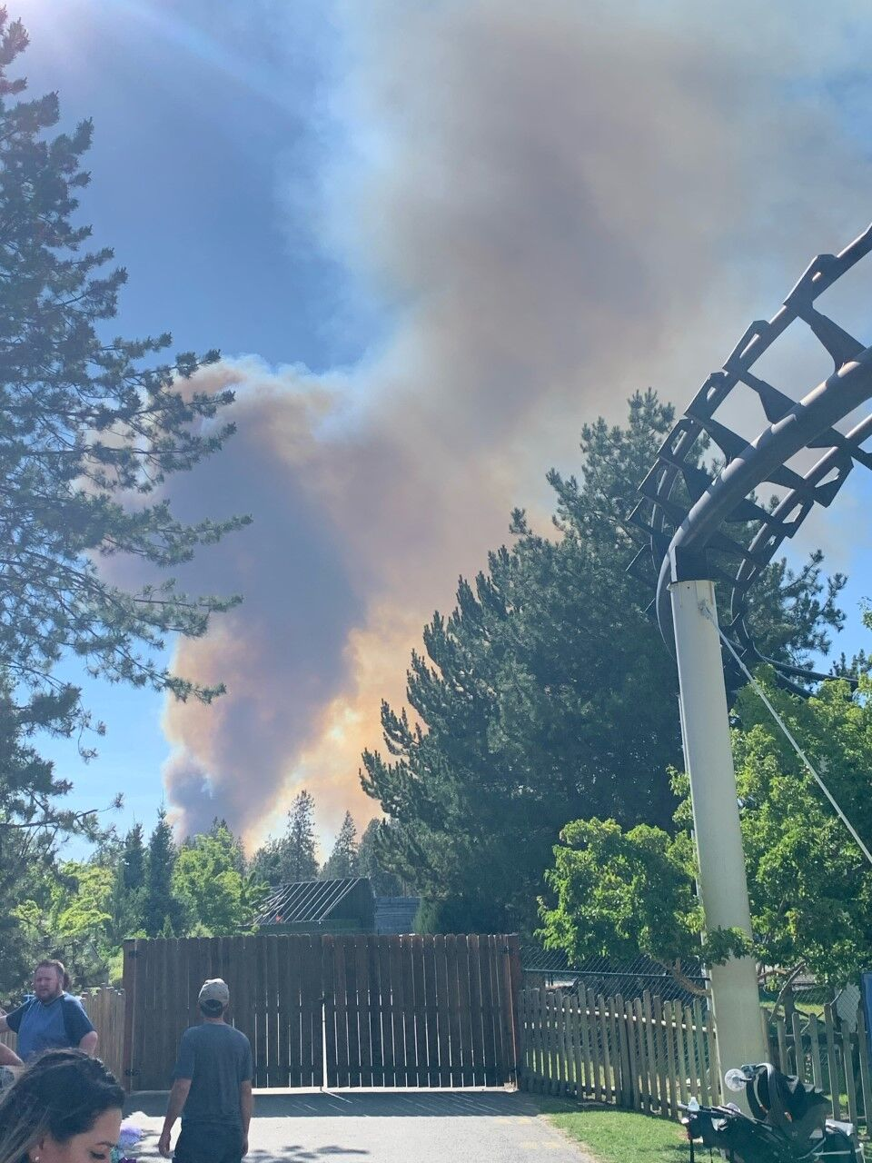 silverwood fire view from park