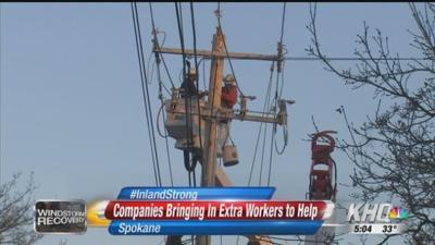 Avista crews continually working to restore power