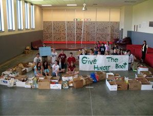 Mountainside Middle School Gives Hunger The Boot!